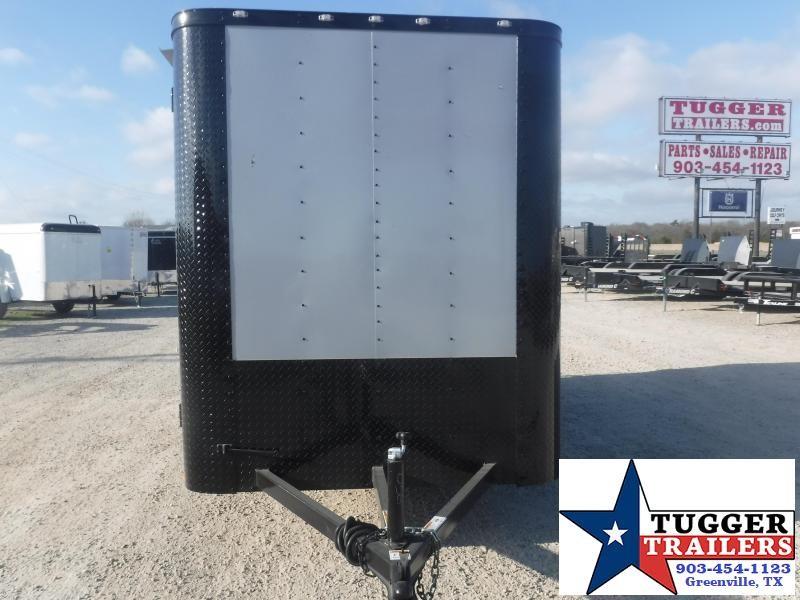 2021 Cargo Craft 6x12 12ft Utility Elite Flat Nose Black Out Work Enclosed Cargo Trailer