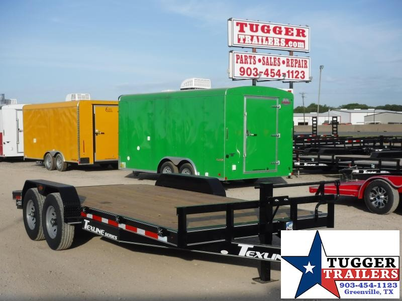 2019 TexLine 83x18 18ft Bobcat Utility Flatbed Trailer