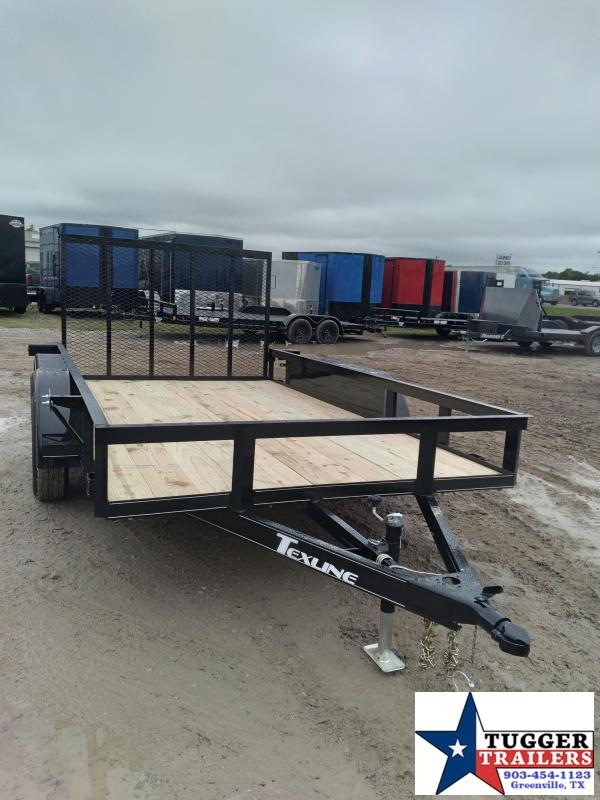 2020 TexLine 77x12 12ft Flatbed Toys Side Move Travel Hunt ATV Utility Trailer