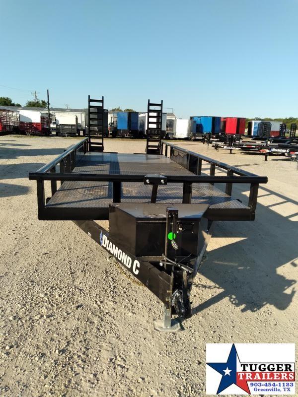2021 Diamond C Trailers 82x20 20ft EDU Heavy Duty Work Equipment Open Utility Trailer