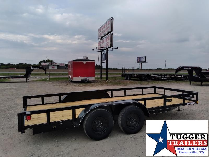2020 Buck Dandy 77x16 16ft Open Angle Top Side Toy Travel Hunt Utility Trailer