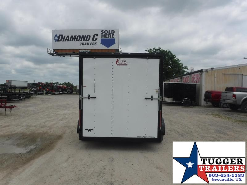 2020 Cargo Craft 7x12 12ft Black Out Utility Box Landscape Work Enclosed Cargo Trailer