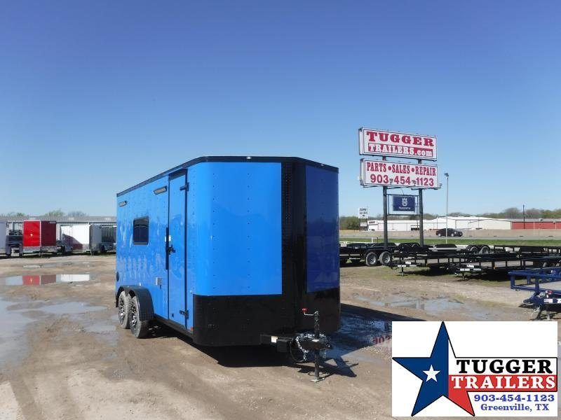 2021 Cargo Craft 7x16 16ft Utility Toy Side Four Cycle Bike Camp Enclosed Cargo Trailer