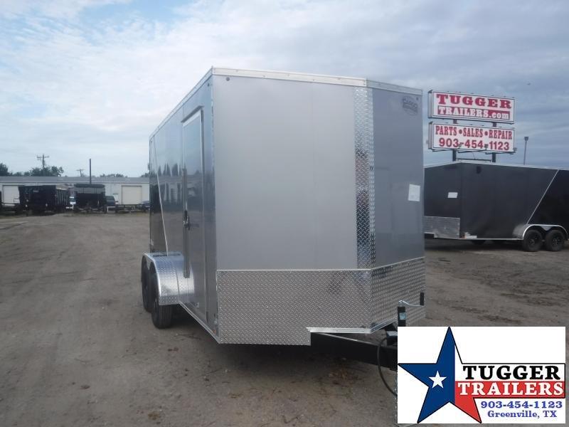 2021 Cargo Express 7x14 14ft Slope V-Nose 2 Tone Utility Toy Side Enclosed Cargo Trailer