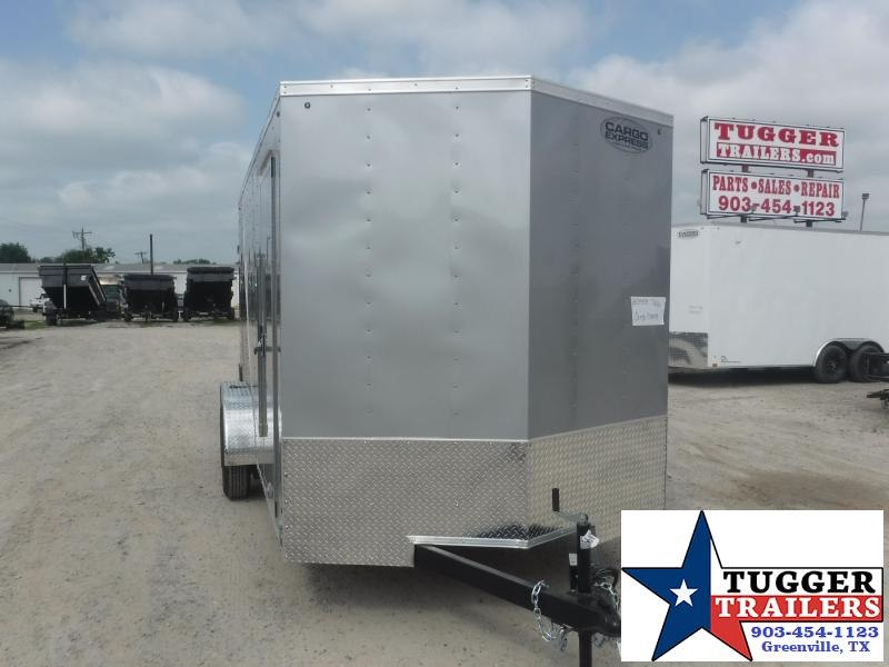 "2021 Cargo Express 7x16 16ft 18"" V-Nose Utility Box Toy Landscape Enclosed Cargo Trailer"