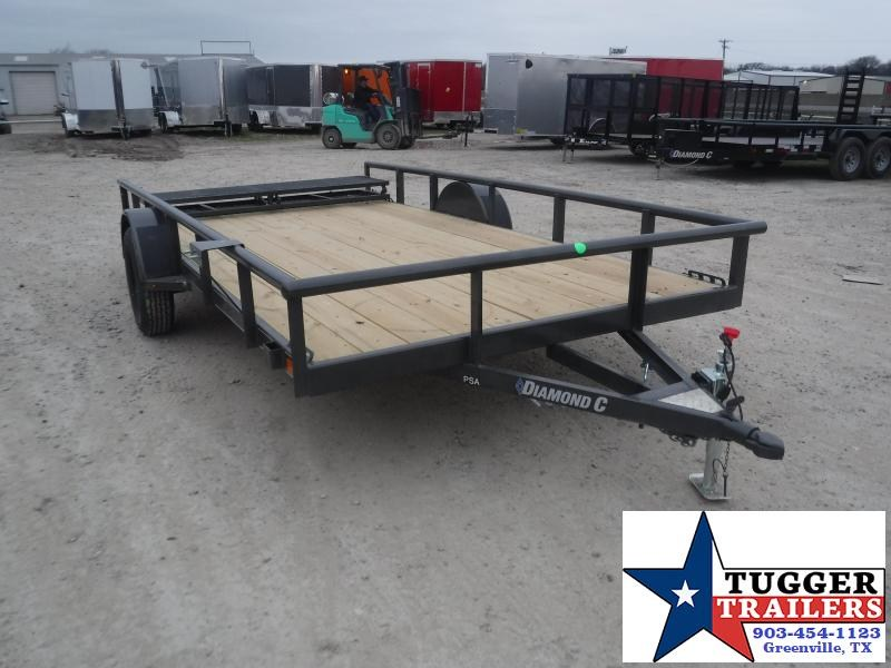 2021 Diamond C Trailers 77x12 12ft PSA Open Toy Work Tool Landscape Bike Utility Trailer
