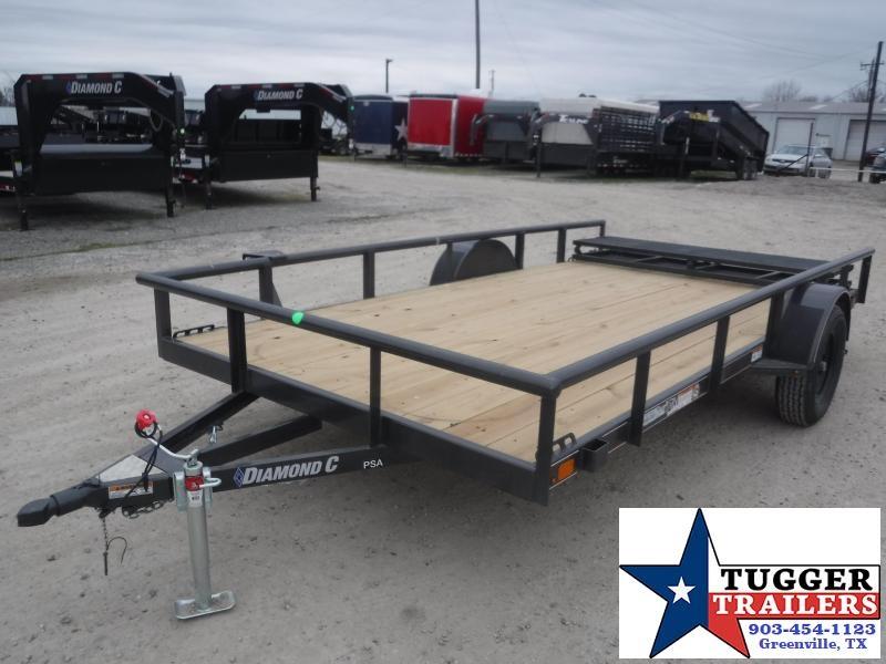 2021 Diamond C Trailers 77x12 12ft PSA Open Toy Work Tool Landscape Bike Utility Trailer