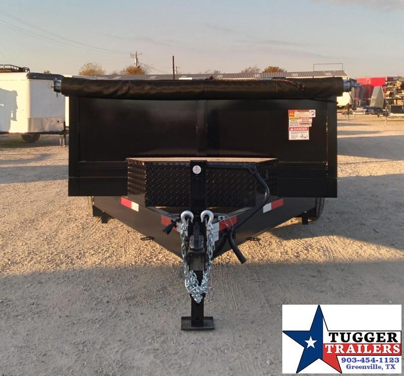 2021 Texas Pride Trailers 7x14 14ft Steel Heavy Duty Rocky Work Farm Dump Trailer
