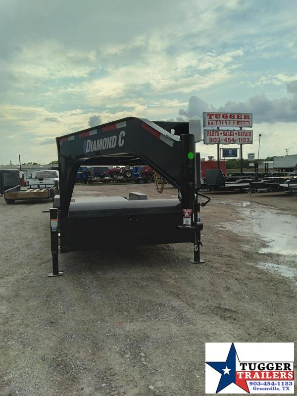 2021 Diamond C Trailers 82x24 24ft Utility Flatbed Gooseneck Farm Work Equipment Trailer