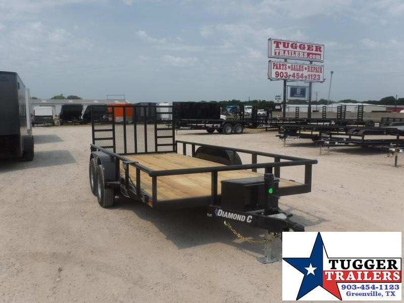 2020 Diamond C Trailers 82x16 16ft Pipe Toy Flatbed Construction Lawn Toy Utility Trailer