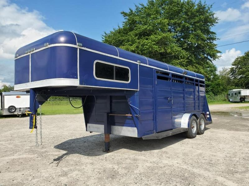 1991 Triple B and J Trailers Stock Horse Trailer