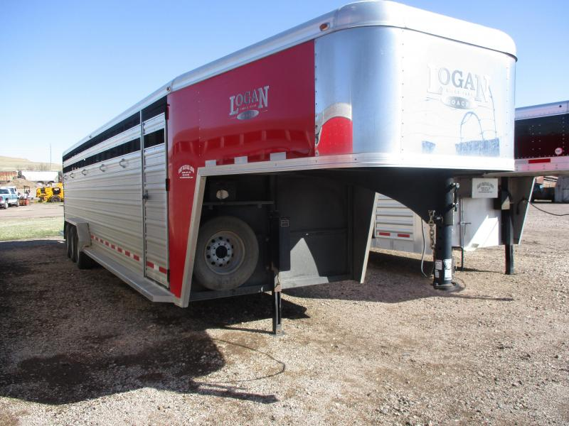 2014 Logan Coach Stock Livestock Trailer