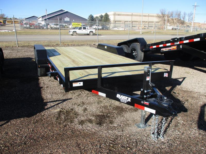 2021 H and H Trailer Utility Flatbed Trailer 82 X 18