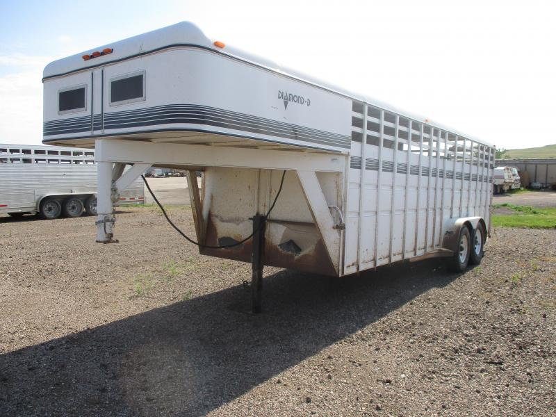 1988 Diamond D Stock Livestock Trailer 7 X 20