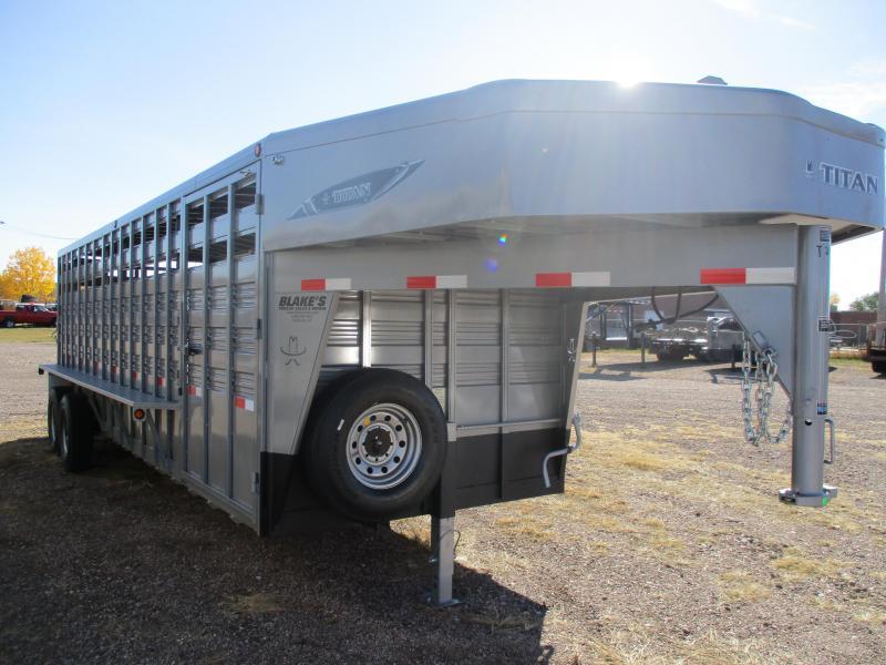 2021 Titan Trailers Standard Stock Livestock Trailer 6'8 X 24