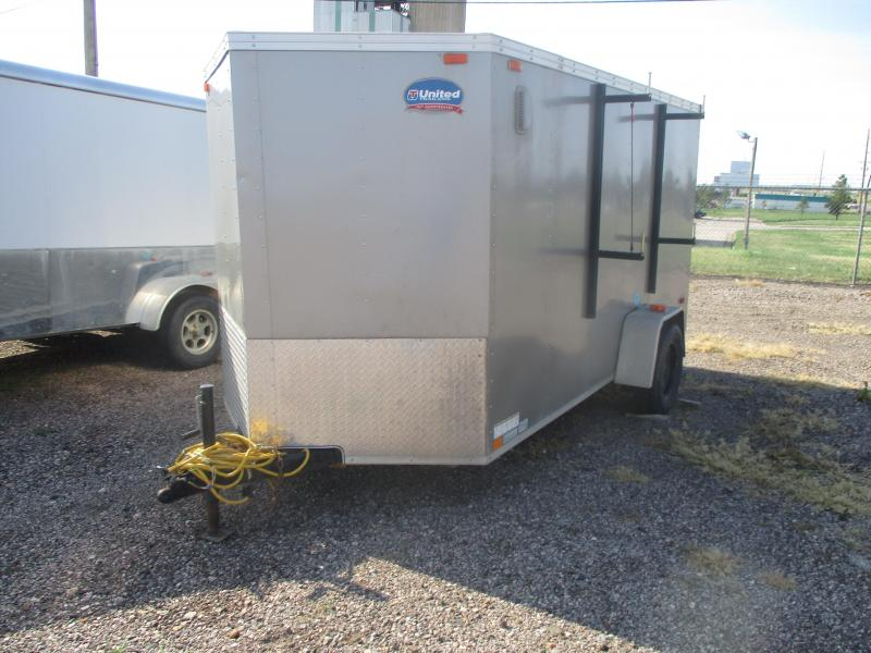 2014 United Trailers Cargo Enclosed Cargo Trailer 6 X 12