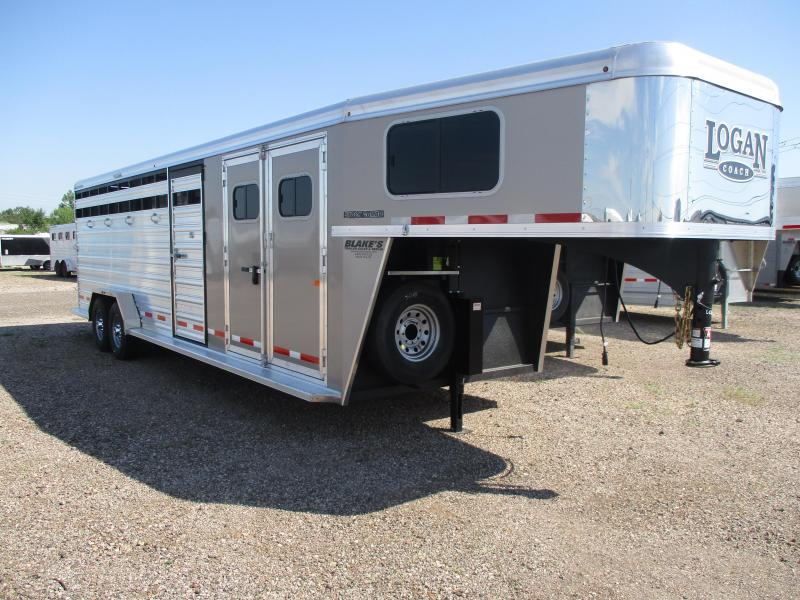 2021 Logan Coach Stock combo Livestock Trailer
