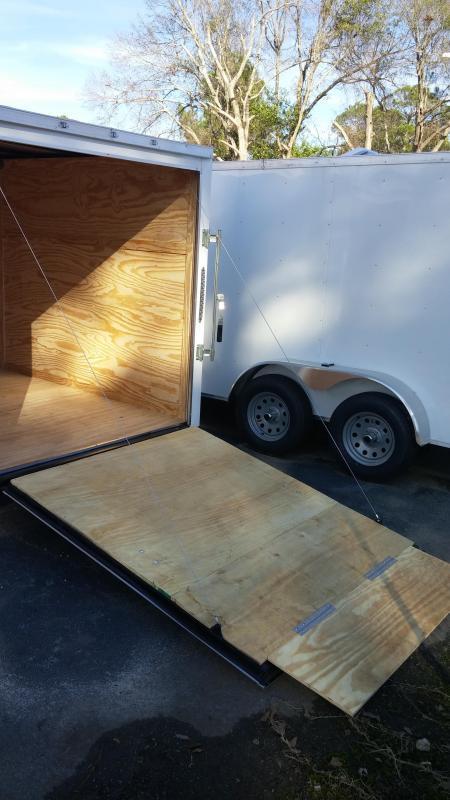 6 X 12 SA Enclosed Trailer w/ Ramp Door