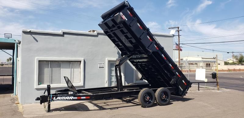 2021 Lamar Trailers DL-7k-16 Dump Trailer- 17,500# GVWR -16 ply tires-Tarp- Ramps - Battery Charger- Solar Charger- 7 Gauge Floor - Powder coat finish- **cash discount available see below**