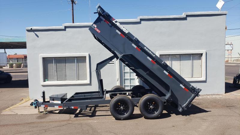 "2021 Lamar Dump Trailer-Medium duty dumper- #9990 GVWR- Tarp-Ramps -battery charger -18"" sides *** Cash Discounts - SEE BELOW***"