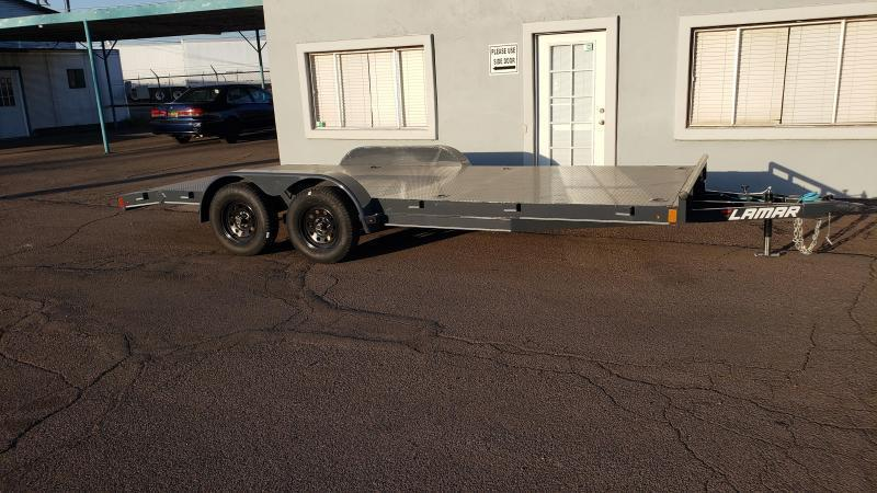 2020 Lamar Trailers 18' Steel Deck Car / Racing Trailer- 7000# GVWR-8 Flush mount D-rings- Pull out ramps- *cash discounts- see below**