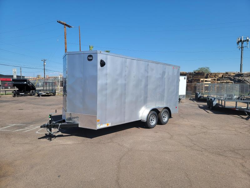 2021 Wells Cargo FT716T2-D Enclosed Cargo Trailer for sale- 7 x 16-  Rear Ramp Door- #7000 GVWR **Cash discount available****