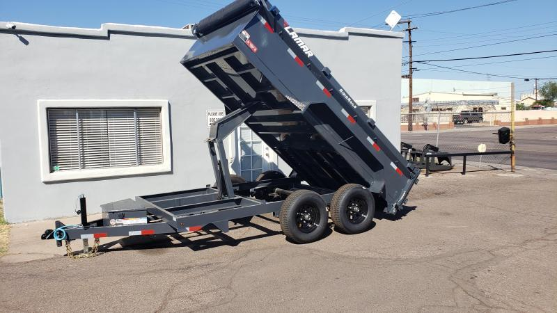2020 Lamar Medium Duty Dump Trailer- 9990# GVWR- Upgraded 14K rated Scissor Hoist- Upgraded 24 inch sides- Deluxe Tarp Kit- 3-way Spreader Gate- Adj Coupler-Free Spare- Cash Discounts (See Below)
