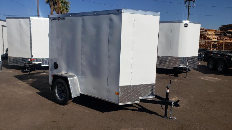 2021 Wells Cargo 5 x 8  Enclosed Cargo Trailer- rear ramp door- wall mount tie downs