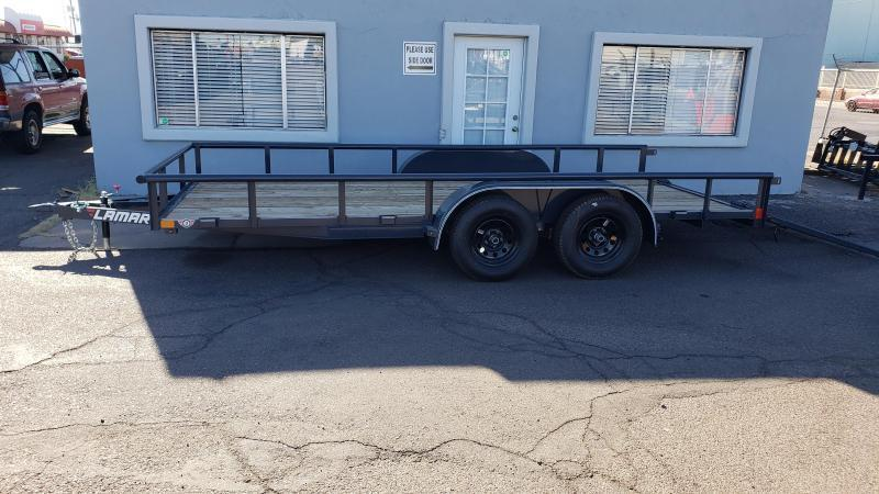 2020 7' x 16' Utility Trailer-7000# GVWR- Pipe Top-  4' spring assist gate   ***CASH DISCOUNT- SEE BELOW***