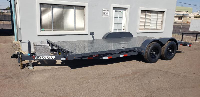 2021 Lamar Trailers CC-5.2k-18' Car / Open Car Trailers-Steel deck- D-rings-ramps- **cash discounts available** see below