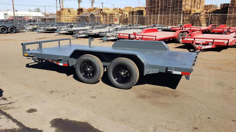 2021 X-on Trailer 14' Steel Deck Car / Open Car Trailers-steel deck -4 D-rings -slide out ramps