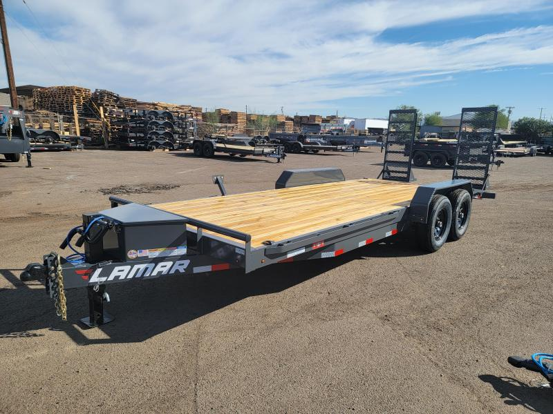 """2022 H6 20' Equipment hauler for sale -14000# GVWR- wood deck- 6"""" channel Frame-Stand Up ramps- tool box- 2' dove tail- ***Cash Discounts Available - See Below ***"""