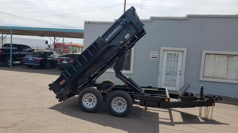 Ironbull Dump Trailer- 5x10- 7000# GVWR- Scissor Lift-Ramps- Deluxe Tarp Kit- Adj Coupler- Cash Discounts (See Below)