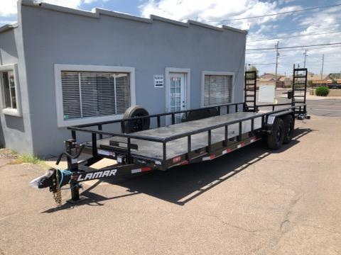 2020 Lamar U5-5.2k-14 Utility Trailer- 9990# GVWR- Steel Deck- 8 flush mount D-rings-Stand up ramps- winch mount- free spare- cash discount ** See Below**
