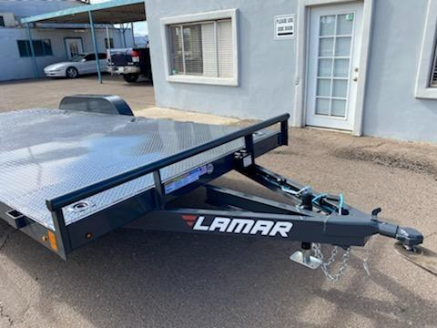 2021 Lamar Trailers ce-3.5k-18 ft Car / Open Car Trailers- Stake Pockets and 8 Flush Mount D-Rings-  Ramps; Steel Deck- Delivery Available- Cash Discounts- LED Lights- Sealed Wiring Harness- Removable Fenders- Powder Coated