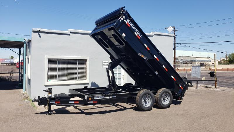"2021 Ironbull  Dump Trailer 83"" x 14'- 6"" I-beam Frame- 14000# GVWR- Rear support stands-spreader gate-7 Gauge floor-  **cash discounts** see below"