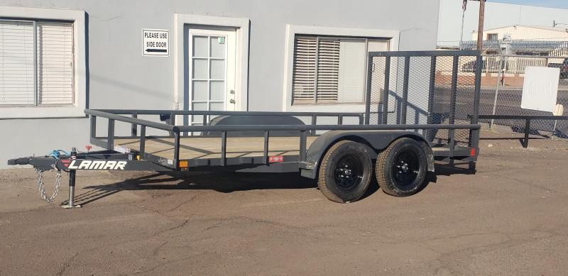 2021 Lamar  18' Utility Trailer - #7000 GVWR- Pipe top- 4' Spring assist full gate