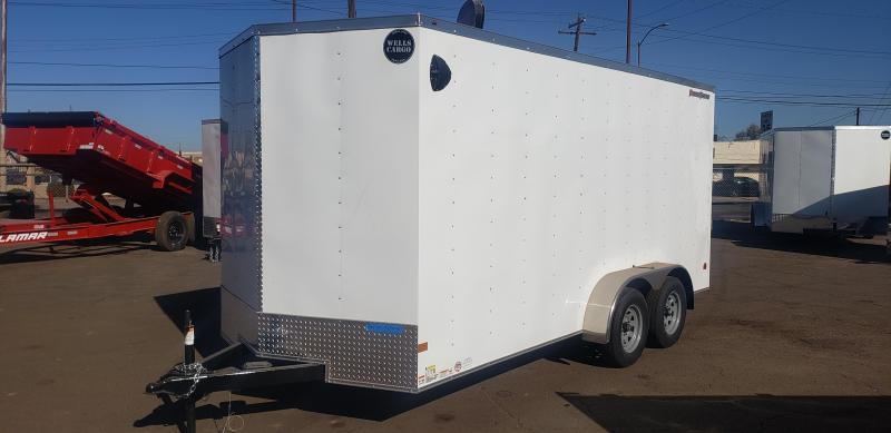 2021 Wells Cargo 7 x 16 Enclosed Cargo Trailer- Rear ramp door-  7' interior height- 7000# GVWR
