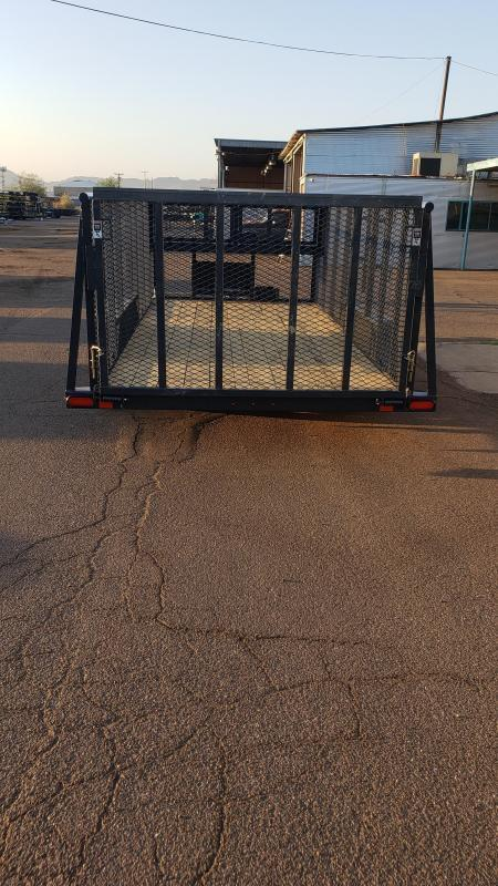 2021 Lamar Landscape Trailer--7000# GVWR- 4' spring assist gate- weed eater rack- full toolbox- Water Rack- Gas can rack-4' mesh sides-cash discount ** See Below**