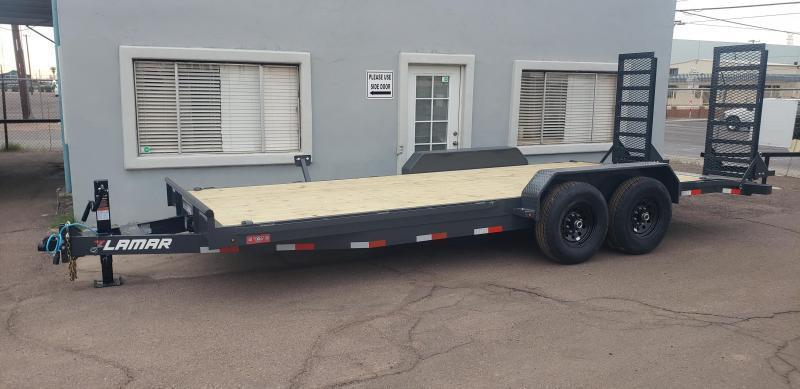 "2021 H6 20' Equipment hauler -14000# GVWR- wood deck- 6"" channel Frame-Stand Up ramps- 2' dove tail-"
