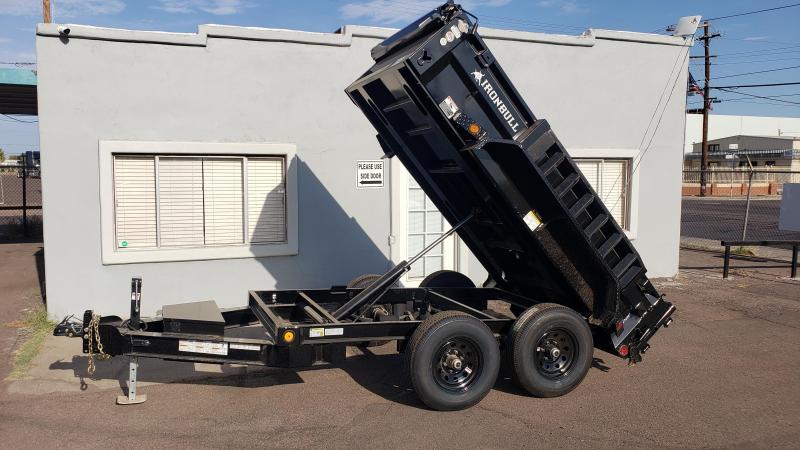 Ironbull Dump Trailer for sale- 5x10- 7000# GVWR- Single Ram Lift-Ramps- Deluxe Tarp Kit- Adj Coupler- Cash Discounts (See Below)