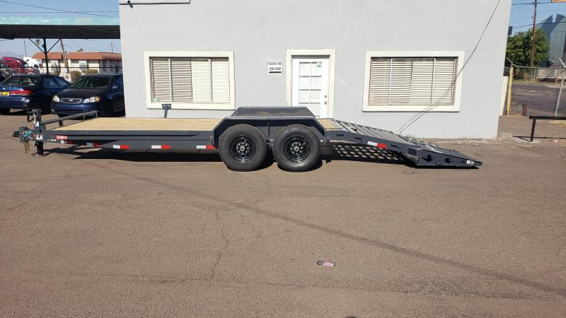 """2021 H6 20' Equipment hauler -14000# GVWR- wood deck- 6"""" channel Frame-Rhino Ramps- 2' dove tail-"""