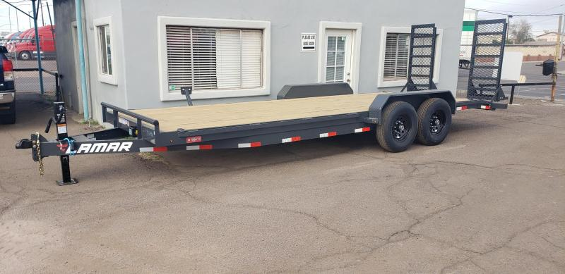 """2021 H6 22' Equipment hauler -14000# GVWR- wood deck- 6"""" channel Frame-Stand Up ramps- 2' dove tail-"""