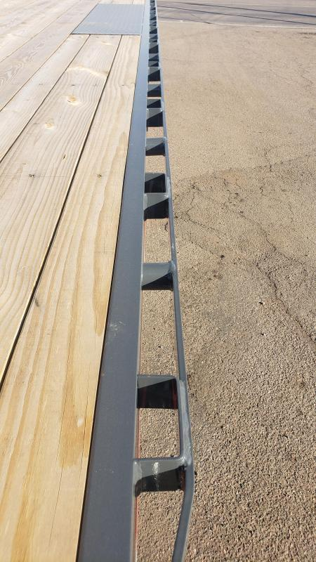 2021 Lamar Trailers F8-7k-20-Deck Over Flatbed Trailer-8' pull out ramps- ** Cash discounts available- see below **