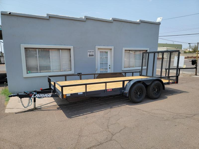 2022 Lamar Trailers UC-3.5k-14 Utility Trailer for sale- Channel Frame-7000# GVWR- 4' spring assist gate-cash discount ** See Below**