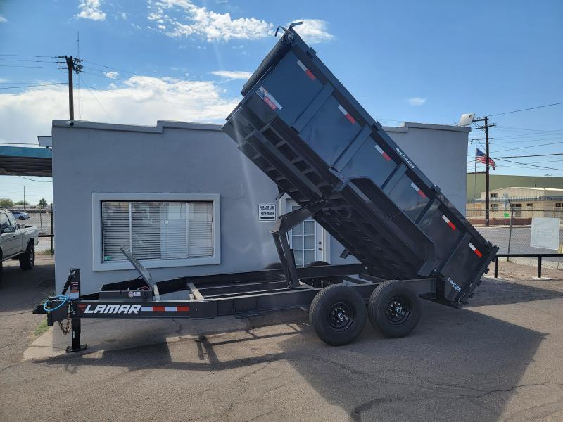 2021 Lamar Trailers DL-7k-14 Dump Trailer- 3' sides- Tarp- Ramps - Battery Charger- 7 Gauge Floor - Powder coat finish.***Cash Discounts- see below***