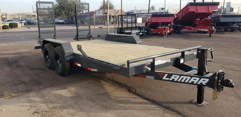 """2021 H6 16' Equipment hauler -14000# GVWR- wood deck- 6"""" channel Frame-Stand Up ramps- 2' dove tail-"""