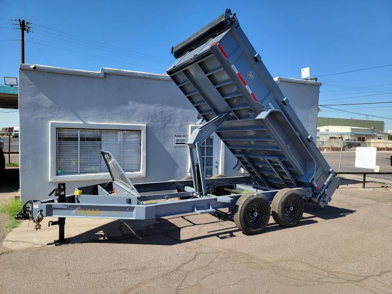 2022 Other DLP-7k-14 Dump Trailer for sale-  7 Gauge floor, rear support Jacks, **Free spare tire
