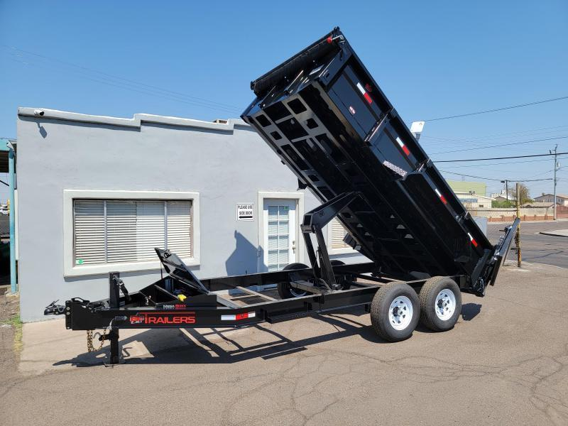 2021 ED Trailers 14 Ft Dump Trailer- Tarp- Ramps - Battery Charger- 7 Gauge Floor - Powder coat finish. *** Cash discounts Available- see below***