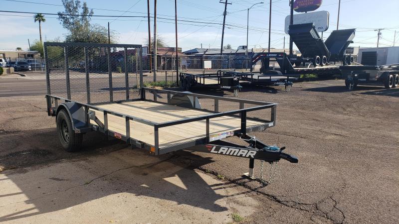 2021 Lamar Trailers UT-3.5k-12 Utility Trailer- 2990# GVWR- 4' spring assist gate-